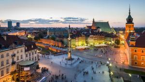 Widok na Plac Zamkowy w Warszawie. Fot. Jacek Kadaj