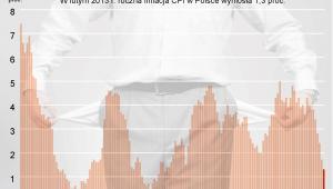 W lutym 2013 roku inflacja w Polsce była na poziomie 1,3 proc.