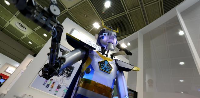 Robot na wystawie World IT Show 2013 w Seulu, Korea Płd.
