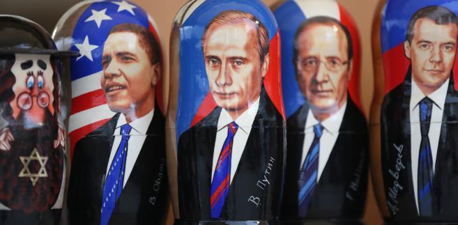 Prezydent USA Barack Obama i prezydent Rosji Władimir Putin