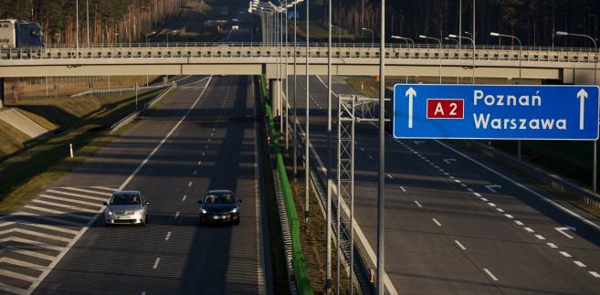 Autostrada A2 w okolicach Nowego Tomyśla