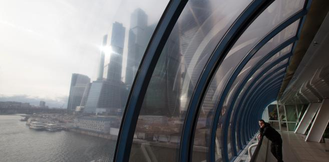 Widok na międzynarodowe centrum finansowe, Moskwa, 16.04.2014