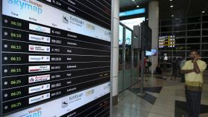 Lotnisko w Kuala Lumpur, Malezja, 17.07.2014
