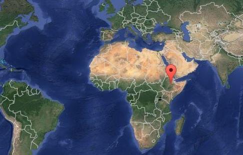 Etiopia. Źródło: Google Maps