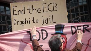 Protesty pod siedzibą EBC we Frankfurcie (2), 18.03.2015