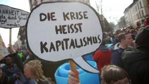 Protesty pod siedzibą EBC we Frankfurcie (4), 18.03.2015