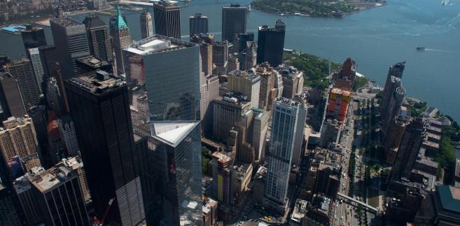 Widok na Nowy Jork  z tarasu widokowego One World Trade Center