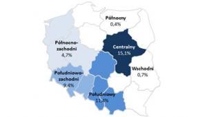 Zatrudnianie obcokrajowców w zależności od regionu działalności firmy