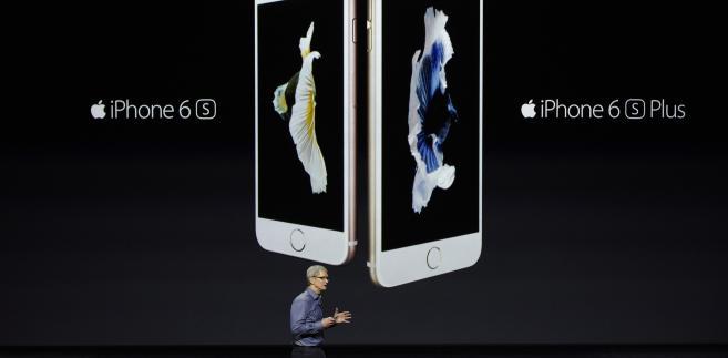Tim Cook podczas prezentacji nowych urządzeń Apple - iPhone 6s i iPhone 6s Plus. 09.09.2015