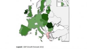 Prognoza wzrostu PKB w krajach UE na 2016 rok, źródło: KE