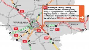 Droga ekspresowa S17 od węzła Lubelska pod Warszawą do początku obwodnicy Kołbieli