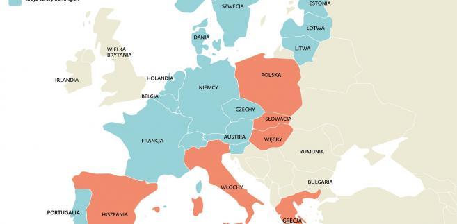 Kraje strefy Schengen