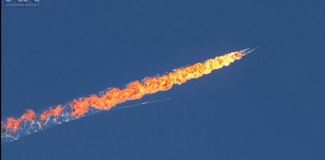 Turcy zestrzelili rosyjski myśliwiec przy granicy z Syrią, źródło: Anadolu Images, twitter