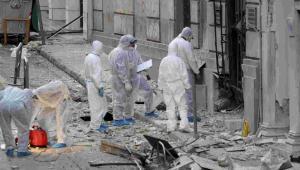 Wybuch bomby w centrum Aten EPA/PANTELIS SAITAS Dostawca: PAP/EPA.