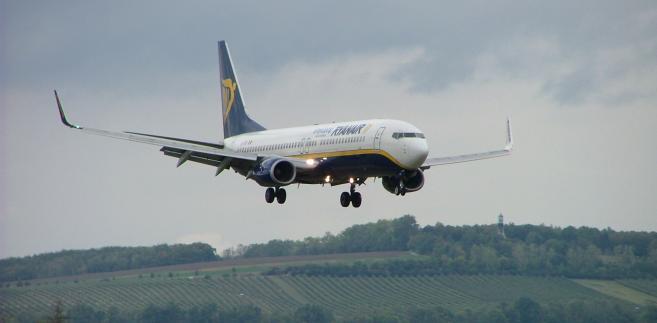 Jeden z Boeingów B737 Ryanaira bazujący  dziś w Modlinie
