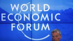 Martin Sorrell, dyrektor zarządzający WPP podczas panelu otwarcia Światowego Forum Gospodarczego w Davos, 20.01.2016.