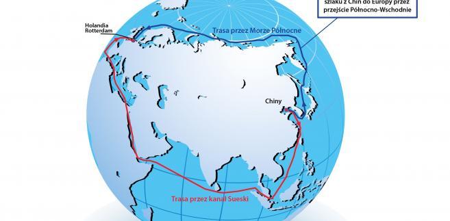 Morska droga z Chin do Europy