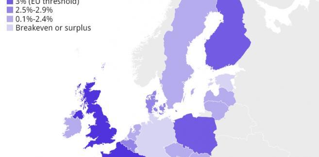 Prognozy deficytu w krajach UE w 2016 roku