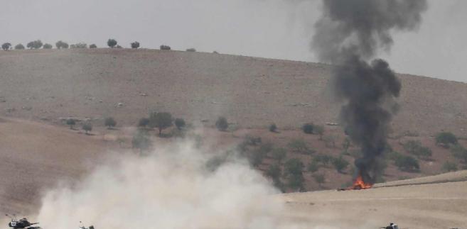 Tureckie czołgi w Syrii EPA/SEDAT SUNA RECROP Dostawca: PAP/EPA.