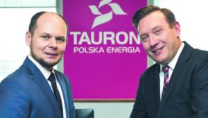Remigiusz Nowakowski, prezes Tauronu (po prawej), i Jarosław Broda, wiceprezes spółki ds. rozwoju wojtek górski