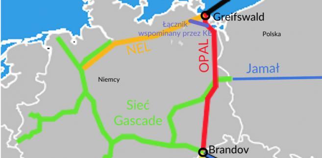 Niemieckie gazociągi należące do spółek z udziałem Gazpromu