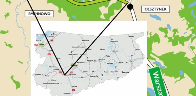 Trasa S7, Rychnowo - Olsztynek. Źródło: GDDKiA
