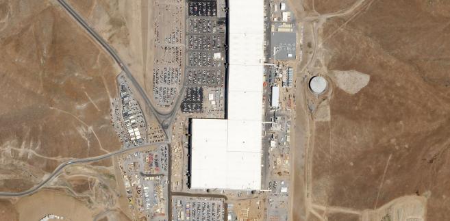 Tesla Gigafactory, Newada, USA, fot. Planet Labs, Inc., CC-BY-SA-4.0.