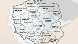 Przeciętne wynagrodzenia w Polsce w I kw. 2012 r.