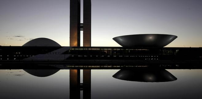 Brasilia (Brazylia). Budynek Kongresu Narodowego w stolicy kraju.