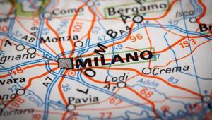 Medioloan, mapa głównych dróg