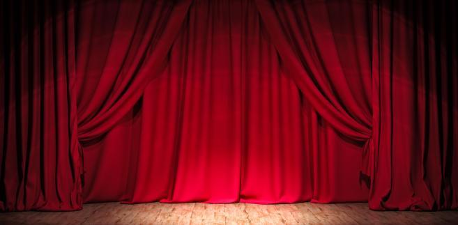 teatr, kurtyna, scena, aktor, sztuka