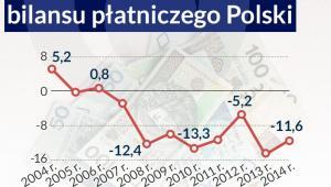 Saldo błędów i opuszczeń bilansu płatniczego Polski, infografika: DG