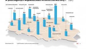 Liczba firm z zawieszona działalnością w woj