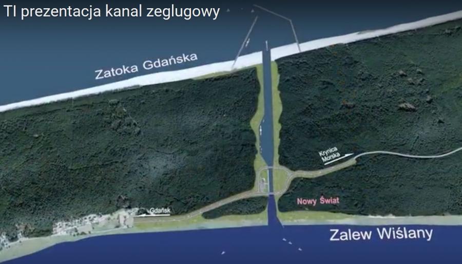 Kanał przez Mierzeję Wiślaną - projekt