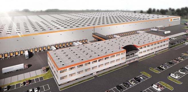 Centrum logistyczne Zalando - wizualizacja