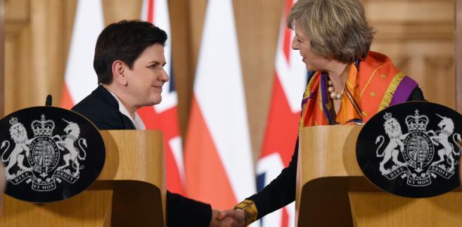 Premier Beata Szydło i premier Wielkiej Brytanii Theresa May podczas konferencji prasowej po polsko-brytyjskich konsultacjach międzyrządowych