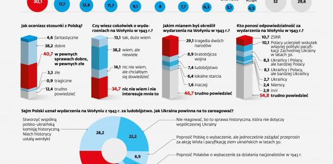 Polska, Ukraina - sondaż - Wołyń, sojusznicy