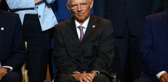 Wolfgang Schaeuble, niemiecki minister finansów, Tallin, Estonia, 15.09.2017
