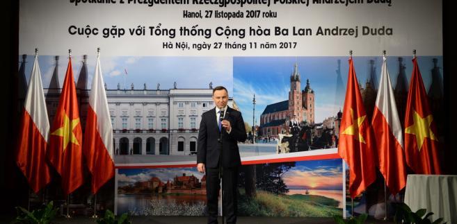 Andrzej Duda w Wietnamie