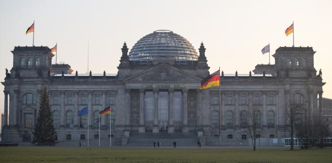 Budynek Reichstagu, Berlin, Niemcy. 21.12.2016