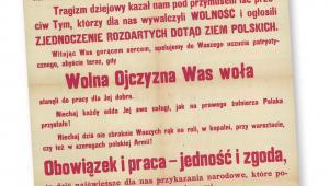 Afisz z Krakowa, 7 listopada 1918 r. fot. mat. prasowe