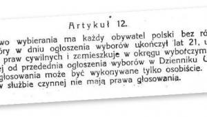 Jeden z najważniejszych zapisów konstytucji z 17 marca 1921 r. fot. mat. prasowe