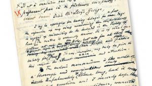 Rękopis listu Ignacego Paderewskiego do szefa brytyjskiego rządu Davida Lloyda Georgea z 15 sierpnia 1919 r. fot. AAN